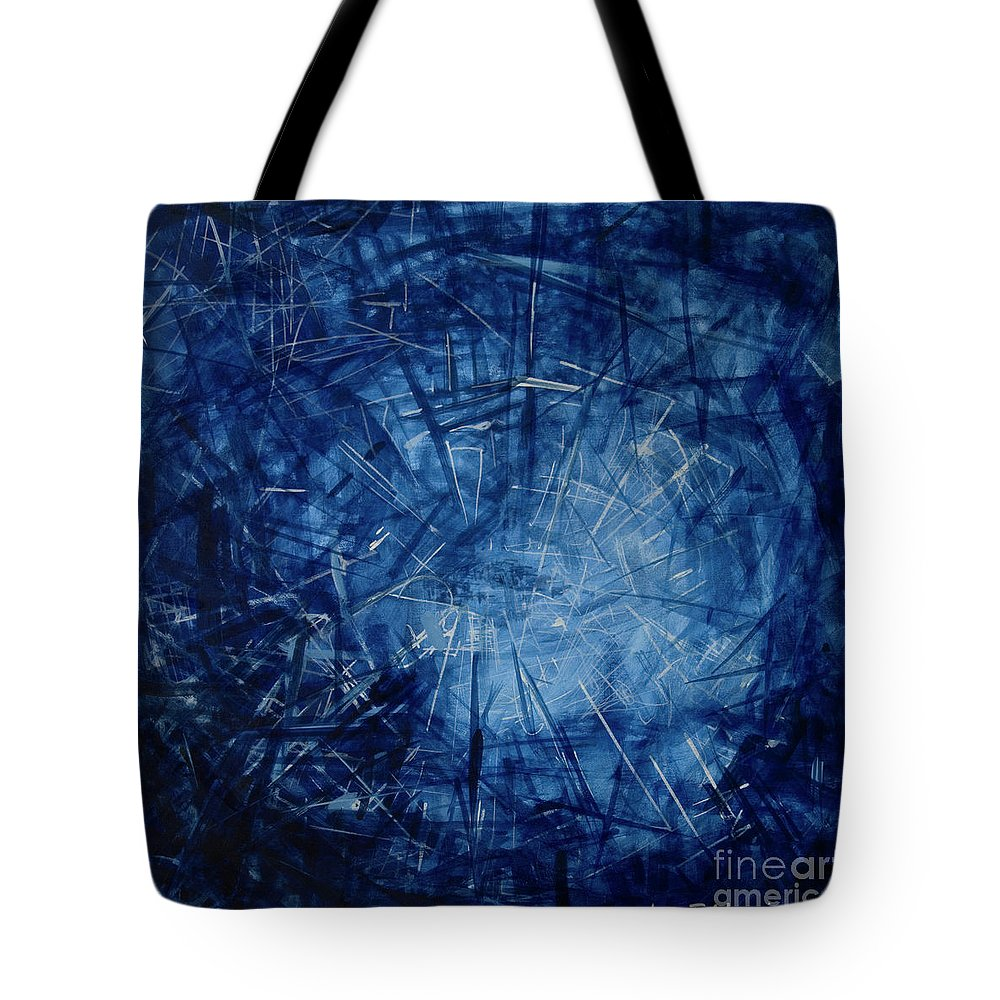 Pulse Tote Bag featuring the painting Pulsing by Jelena Ignjatovic
