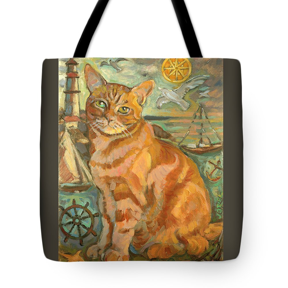Cat Tote Bag featuring the painting Tabby Cat by Jane Oriel