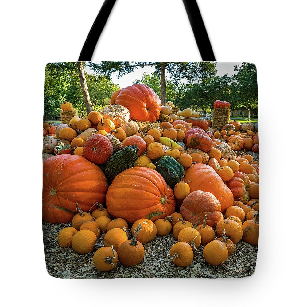 Tote Bag featuring the photograph Pumpkin Patch by Rod Lindley