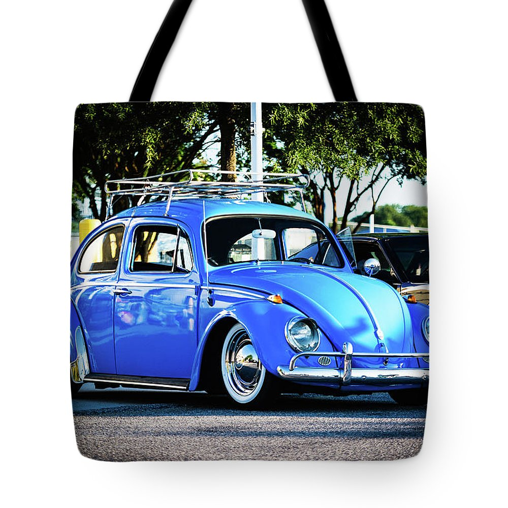 Bug Tote Bag featuring the photograph Punch Buggie Blue by Jeremy Clinard