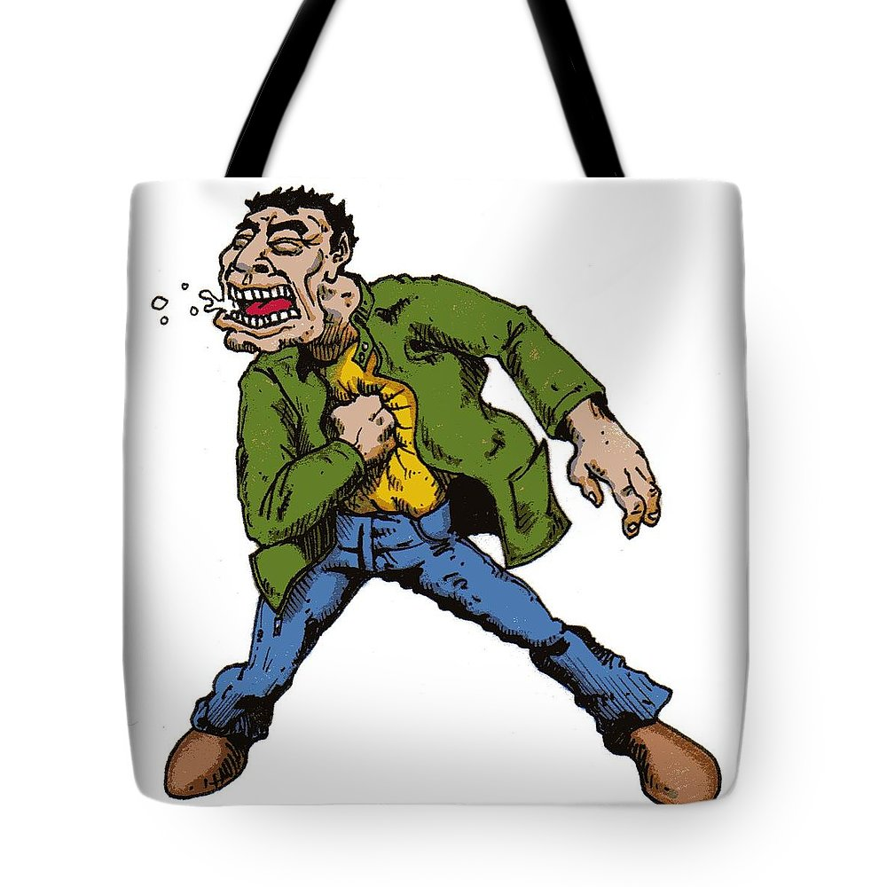 Illustration Tote Bag featuring the drawing Punch by Tobey Anderson