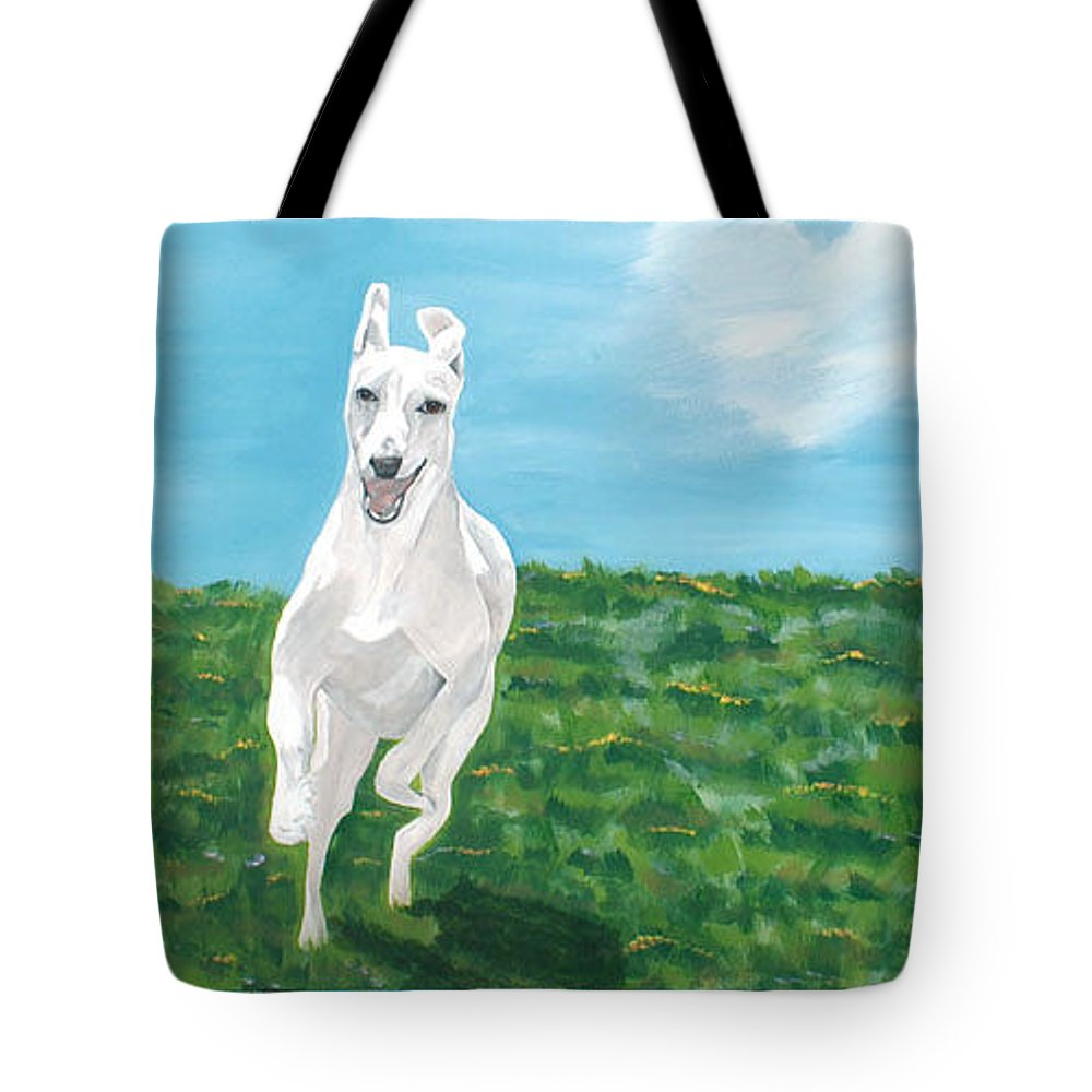 Smoothie Tote Bag featuring the painting Pure Joy And Happiness by Racquel Morgan