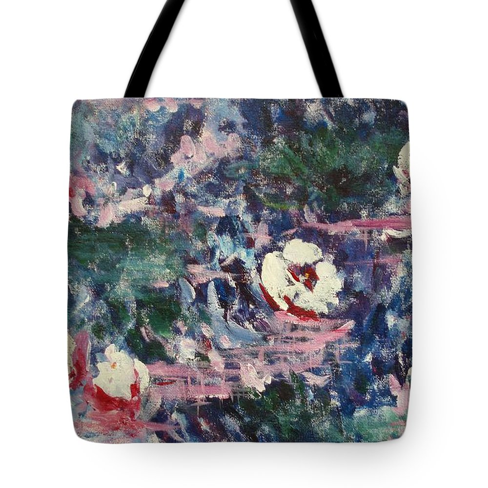 Monet Tote Bag featuring the painting Pure Joy by Tara Moorman