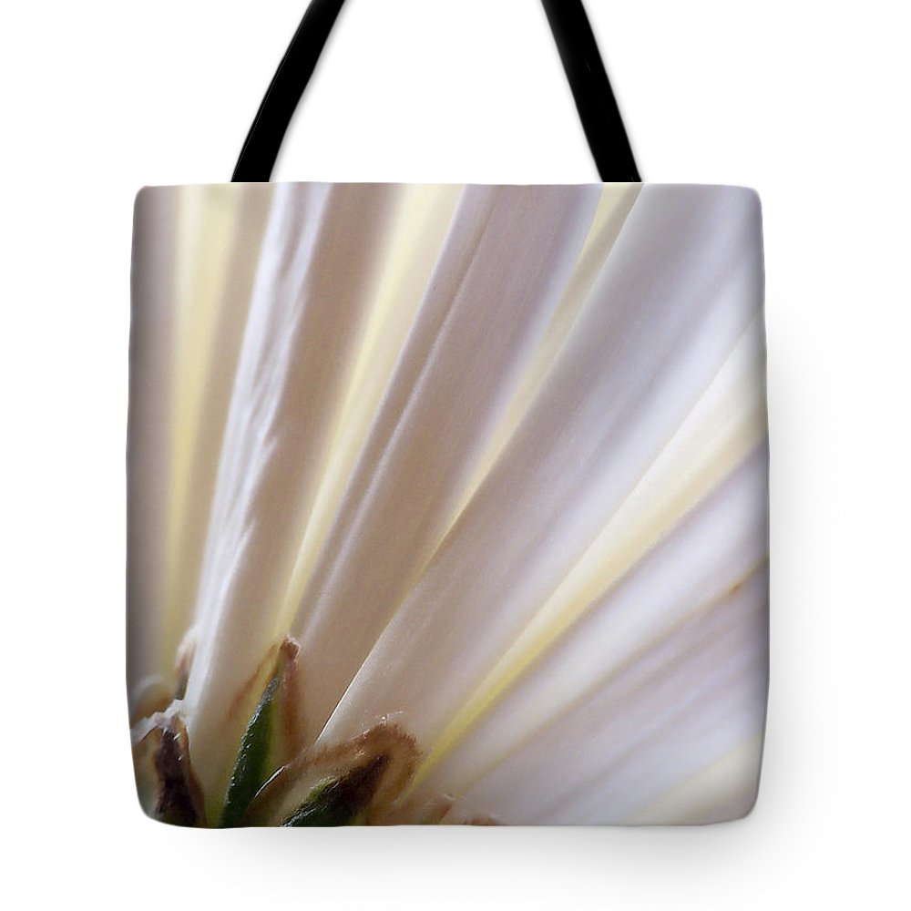 Macro Tote Bag featuring the photograph Pure by Lauren Radke