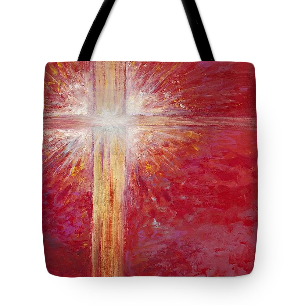 Light Tote Bag featuring the painting Pure Light by Nadine Rippelmeyer