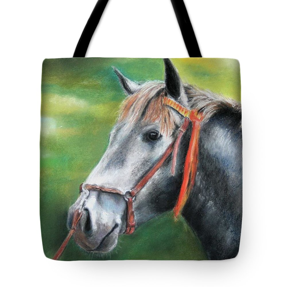 Horse Tote Bag featuring the painting Pure Spanish by Ceci Watson