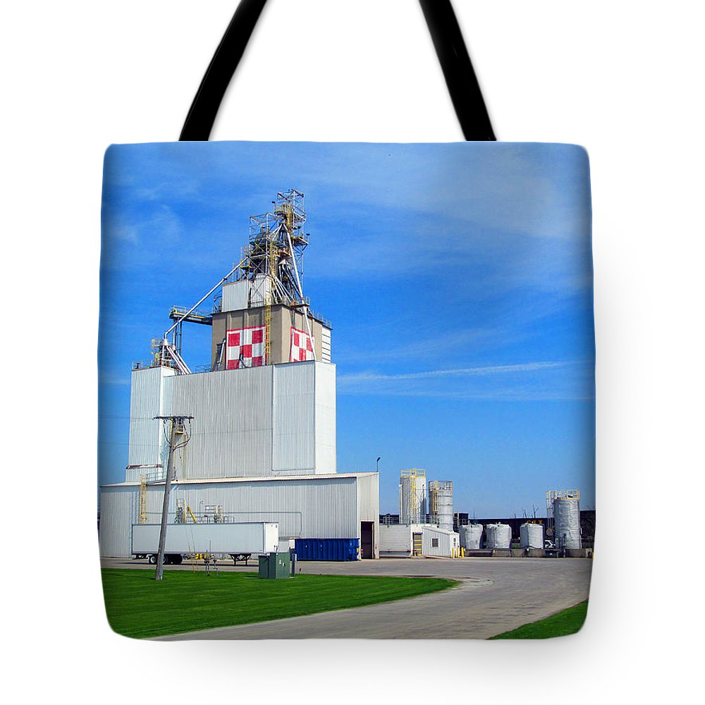 Animal Feed Tote Bag featuring the photograph Purina Factory by Tina M Wenger