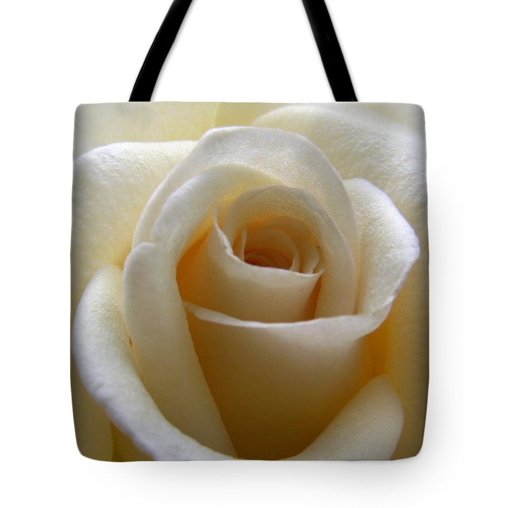 Rose Tote Bag featuring the photograph Purity by Amy Fose