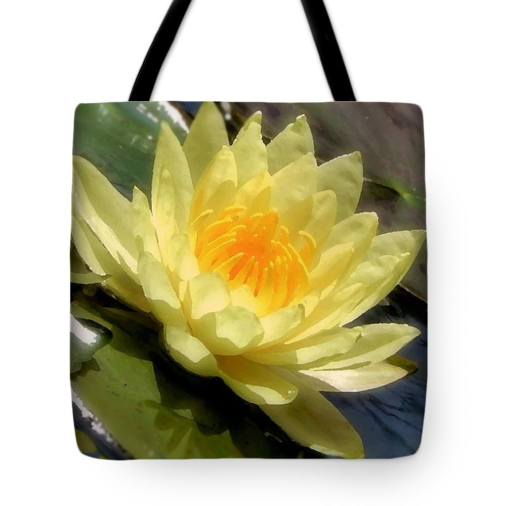 Lotus Tote Bag featuring the photograph Purity by Debbie Summers