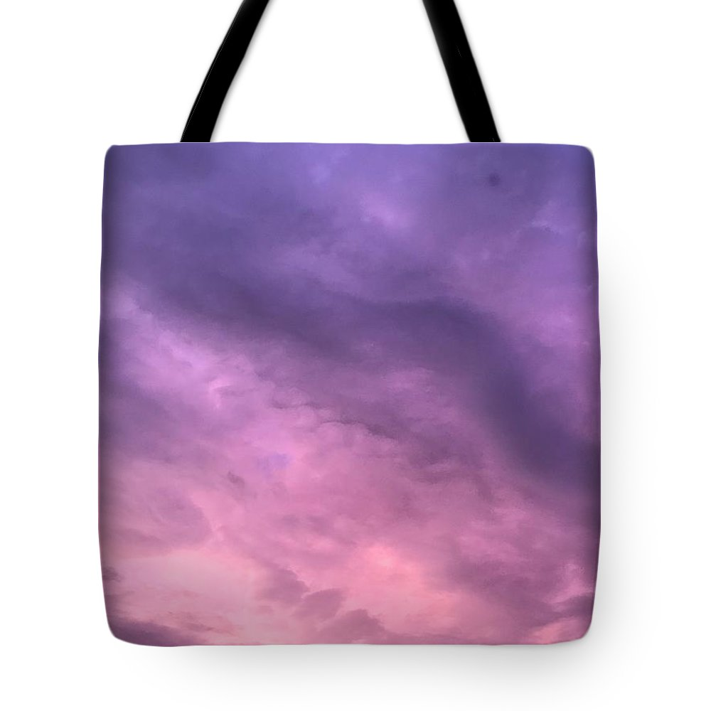 Sky Clouds Purple Tote Bag featuring the photograph Purpl Sky by Lee Barrett