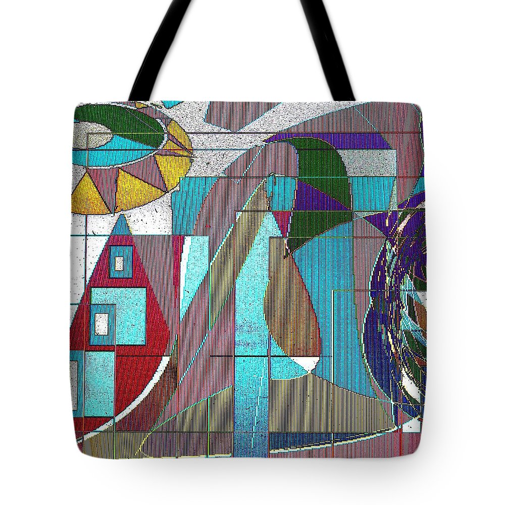 Purple Tote Bag featuring the digital art Purple And Blue by Ian MacDonald