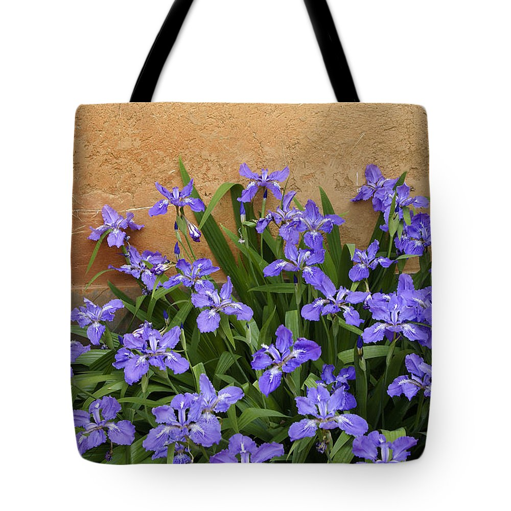 Flowers Tote Bag featuring the photograph Purple And Orange by Michele Burgess