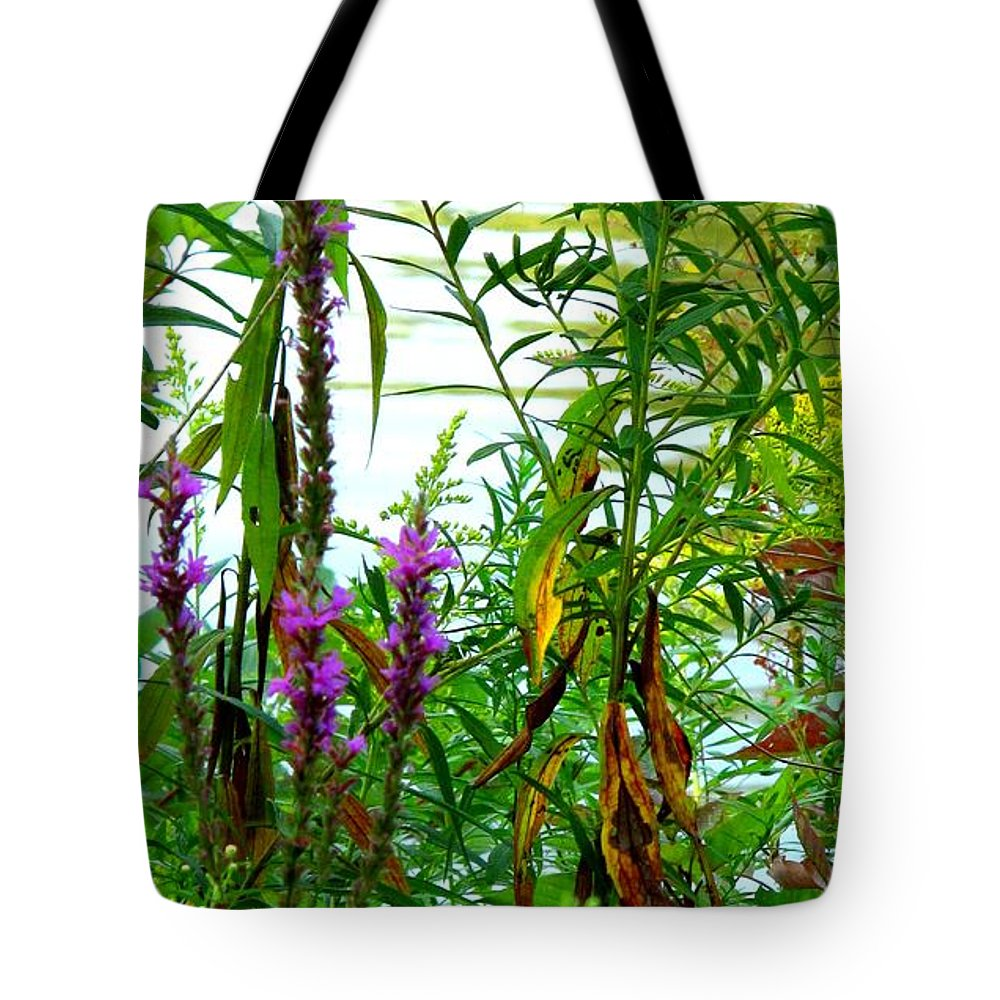 Purple Tote Bag featuring the photograph Purple And Yellow by Ian MacDonald