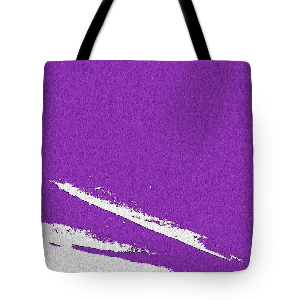 Purple Tote Bag featuring the digital art Purple by Are Lund