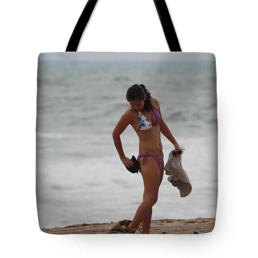 Bikinis Tote Bag featuring the photograph Purple Bikini by Rob Hans