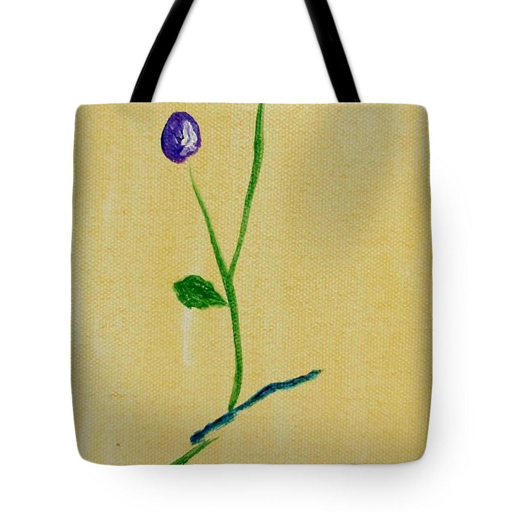 Flowers Tote Bag featuring the painting Purple Buds by Jamie Frier