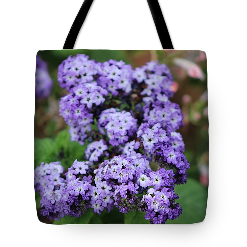 Butterfly Bush Tote Bag featuring the photograph Purple Butterfly Bush by Colleen Cornelius