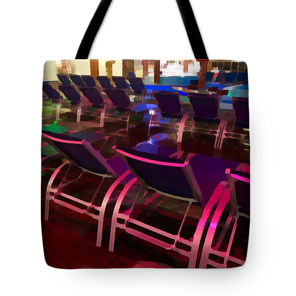 Pink Tote Bag featuring the photograph Purple Chaise by Brandon LeValley