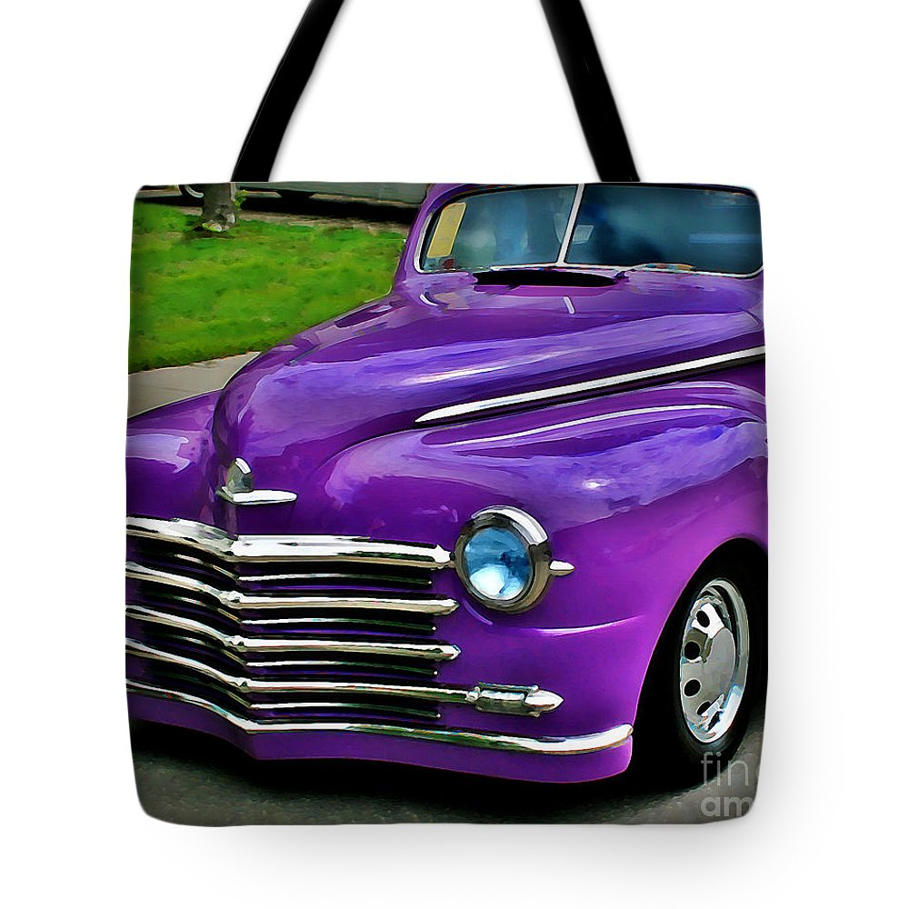 Car Tote Bag featuring the photograph Purple Cruise by Perry Webster