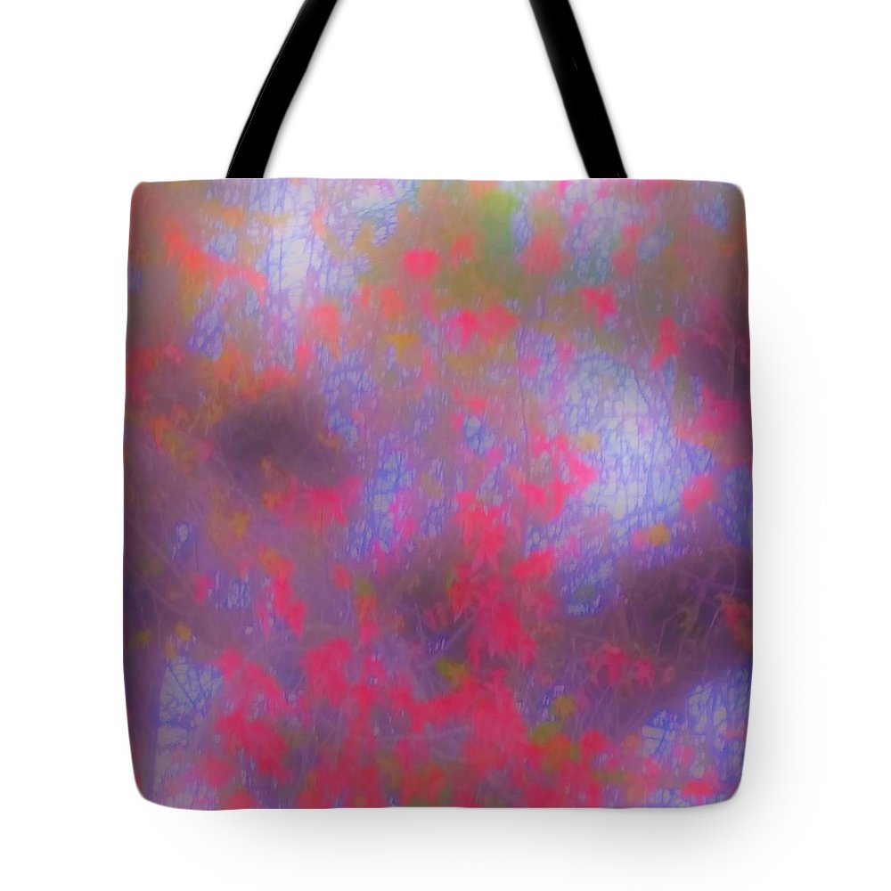 Abstract Tote Bag featuring the photograph Purple by Elizabeth Dunne