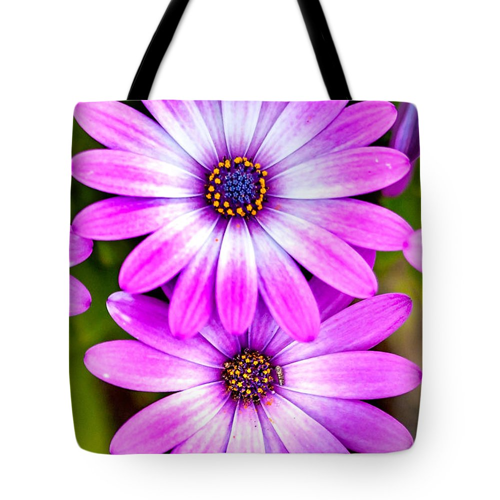 Spring Flowers Tote Bag featuring the photograph Purple Flowers by Az Jackson