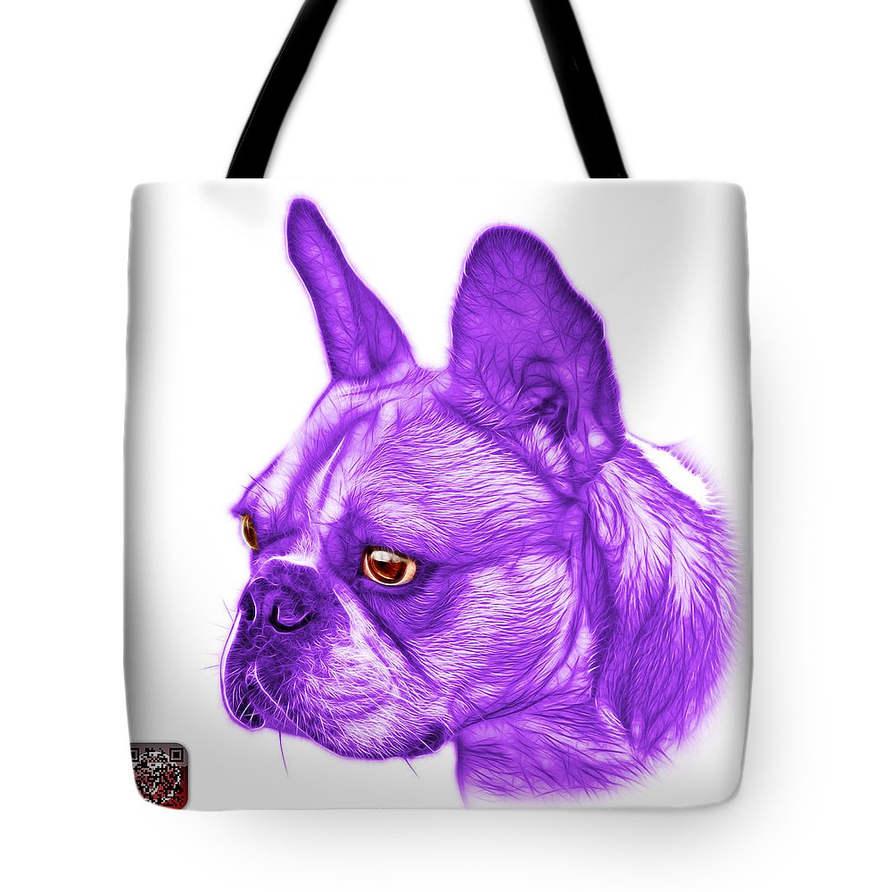French Bulldog Tote Bag featuring the painting Purple French Bulldog Pop Art - 0755 Wb by James Ahn