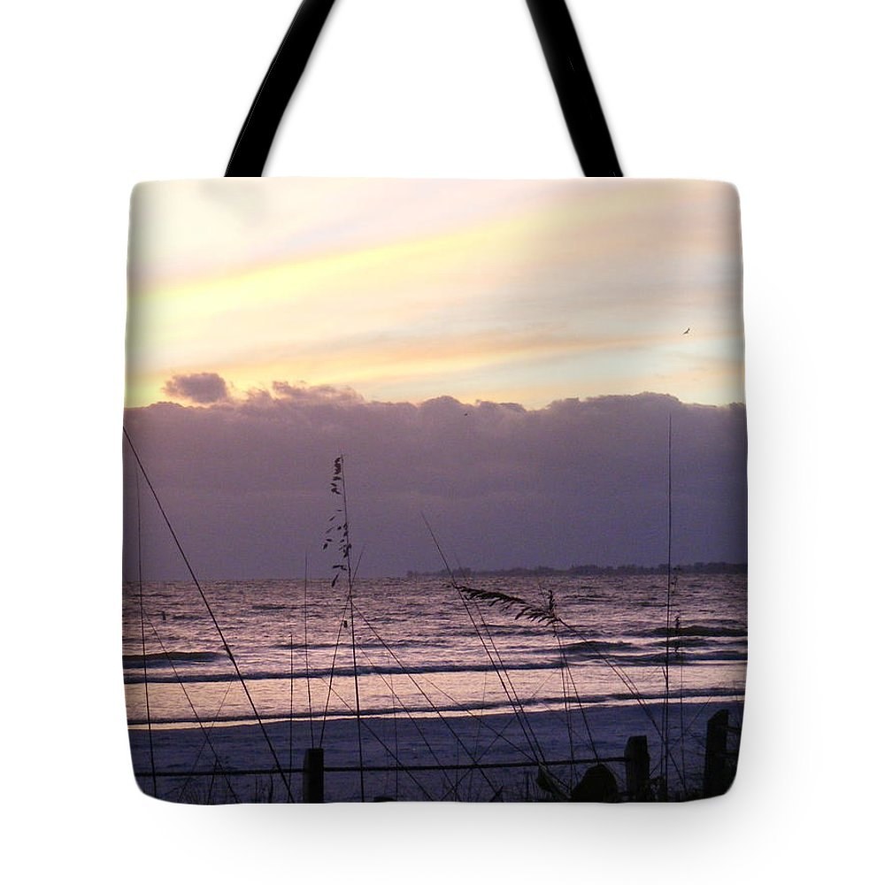 Landscape Tote Bag featuring the photograph Purple Haze by Ed Smith