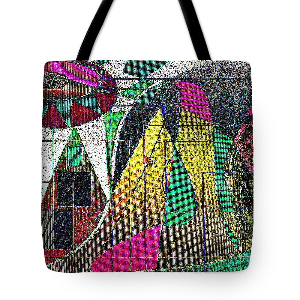 Purple Tote Bag featuring the digital art Purple Haze by Ian MacDonald