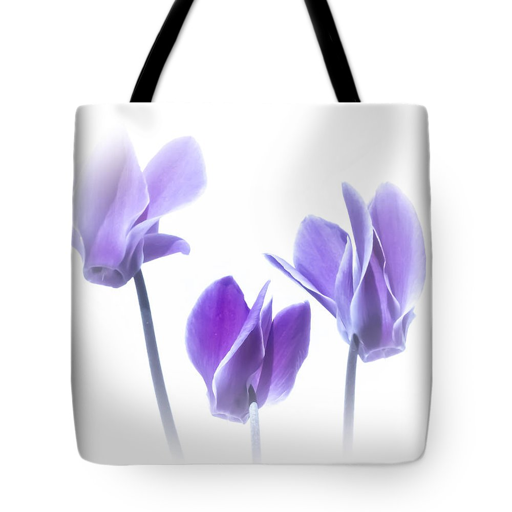 Three Tote Bag featuring the photograph Purple Haze by Susan Westervelt