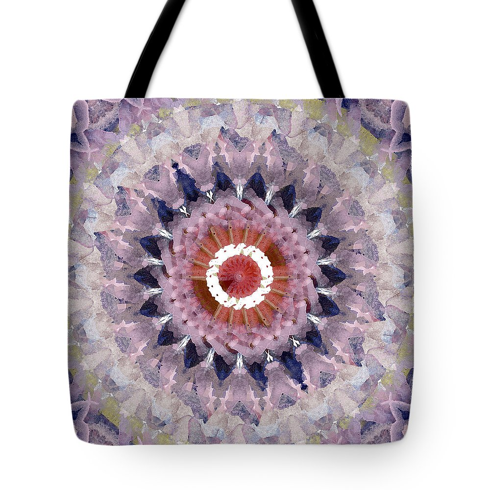 Purple Tote Bag featuring the painting Purple Mosaic Mandala - Abstract Art by Linda Woods by Linda Woods