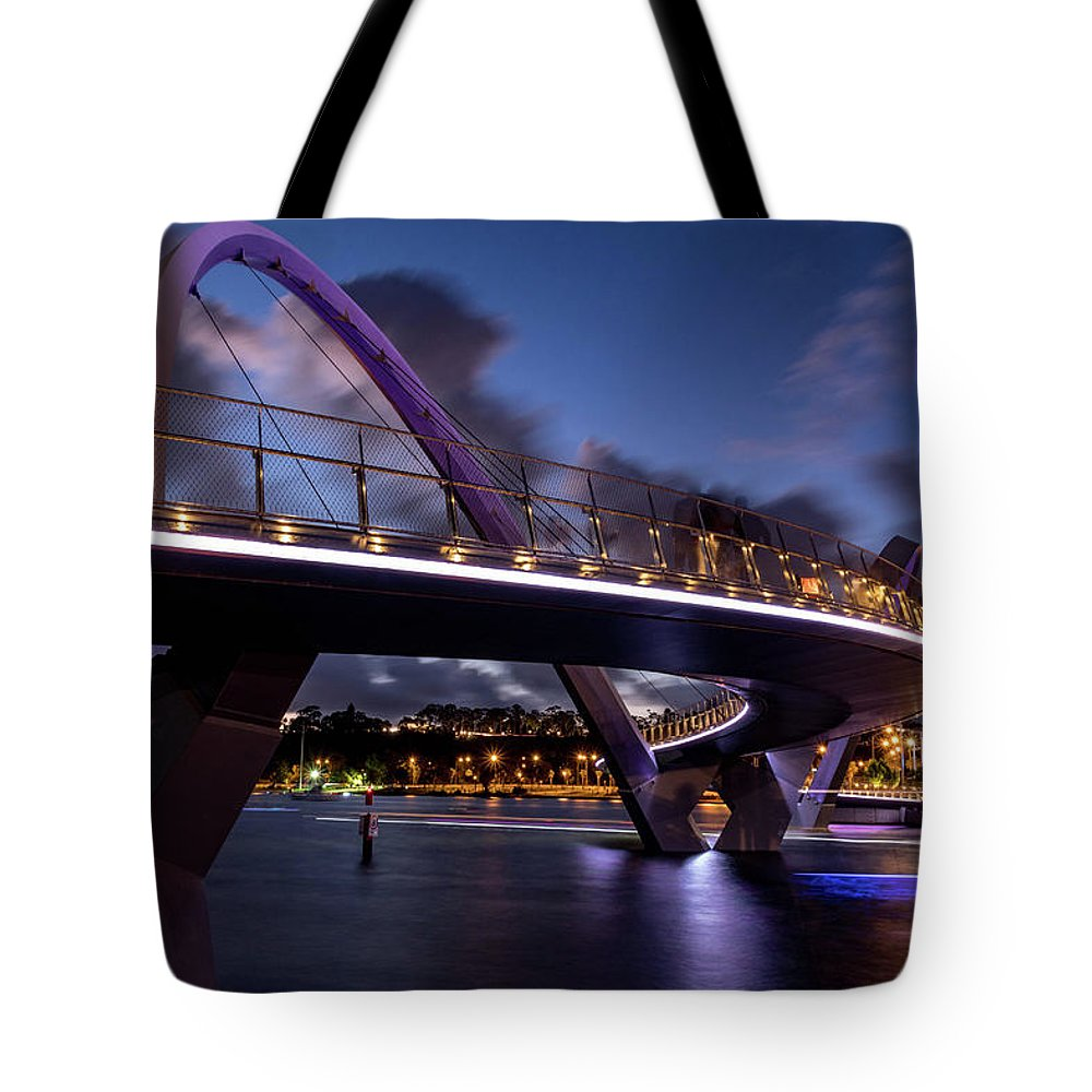Sky Tote Bag featuring the photograph Purple Night by Sue Errington-Wood