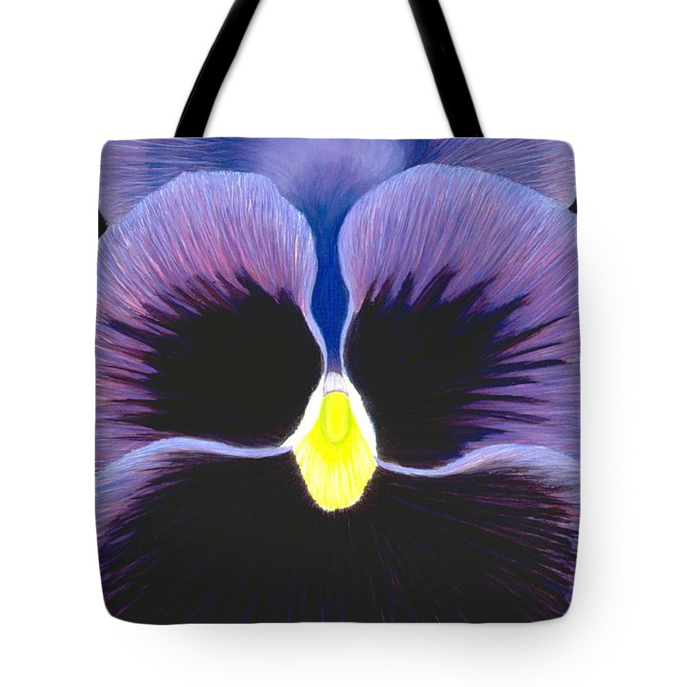 Pansy Tote Bag featuring the painting Purple Pansy by Mary Erbert