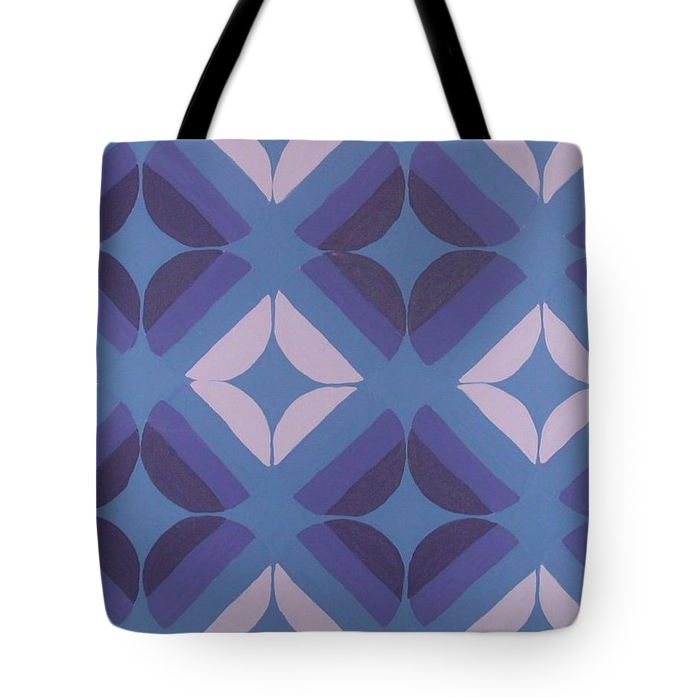 Circles Tote Bag featuring the painting Purple Passion by Gay Dallek