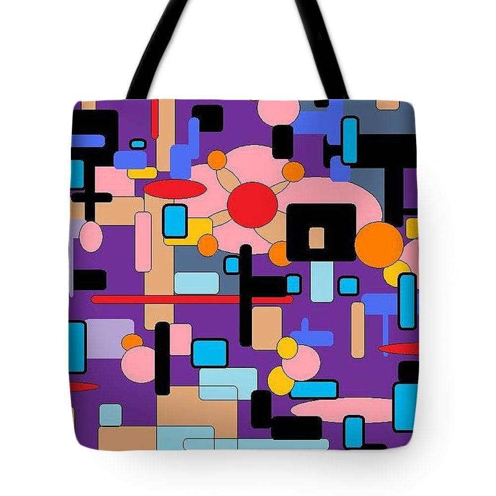 Abstract Digital Tote Bag featuring the digital art Purple Passion by Jordana Sands