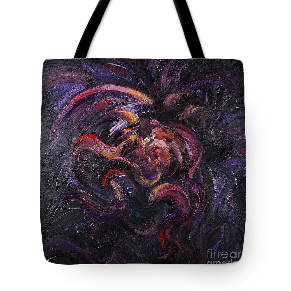 Purple Tote Bag featuring the painting Purple Passion by Nadine Rippelmeyer