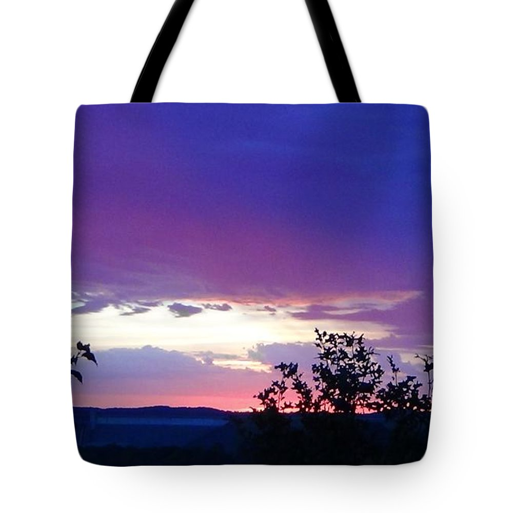 Purple Sunset Tote Bag featuring the photograph Purple Passion by Toni Berry