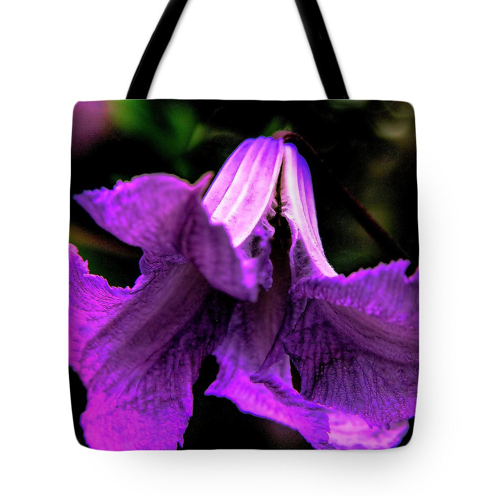 Floral Tote Bag featuring the photograph Purple Petals by David Patterson