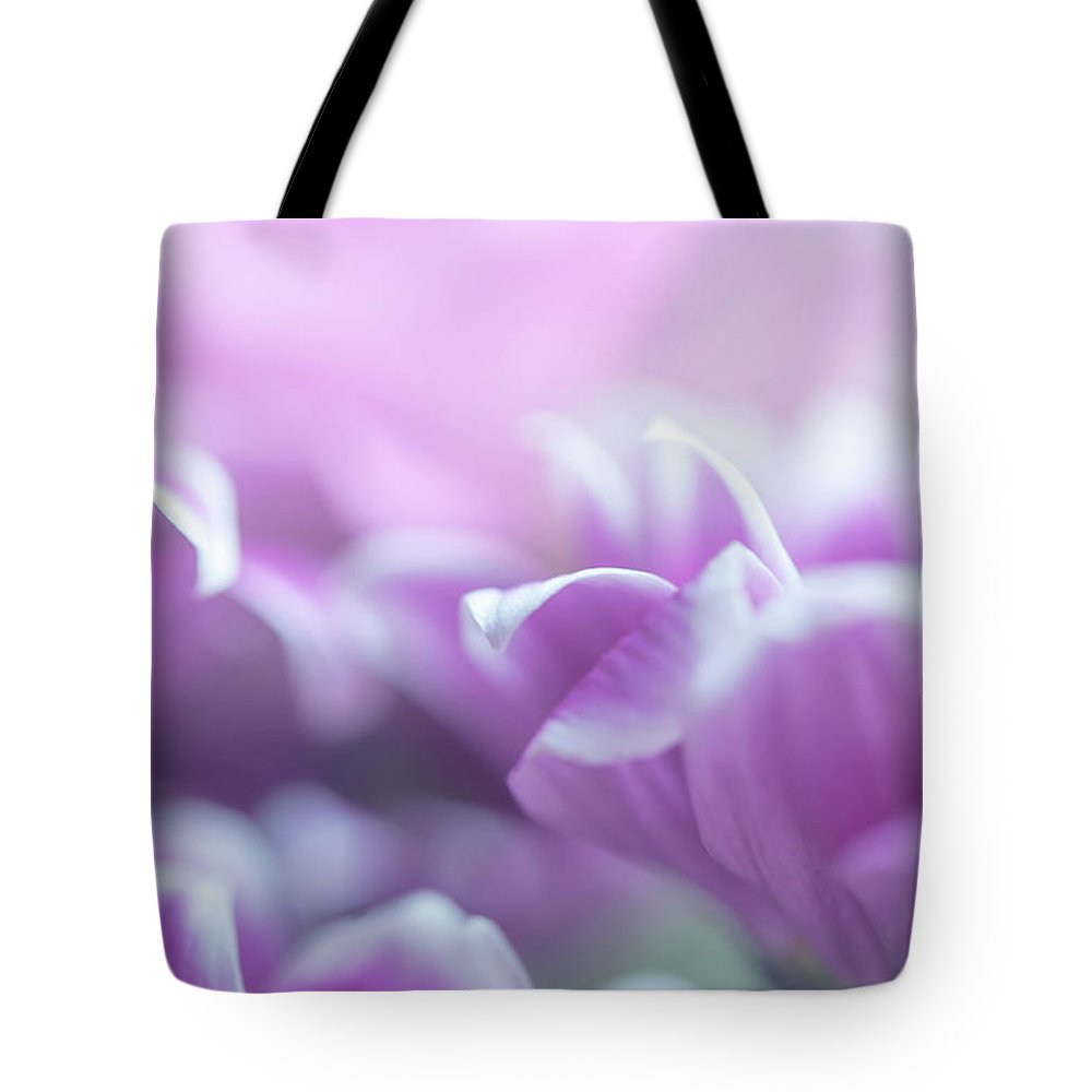 Jenny Rainbow Fine Art Photography Tote Bag featuring the photograph Purple Petals. Gentle Floral Macro by Jenny Rainbow
