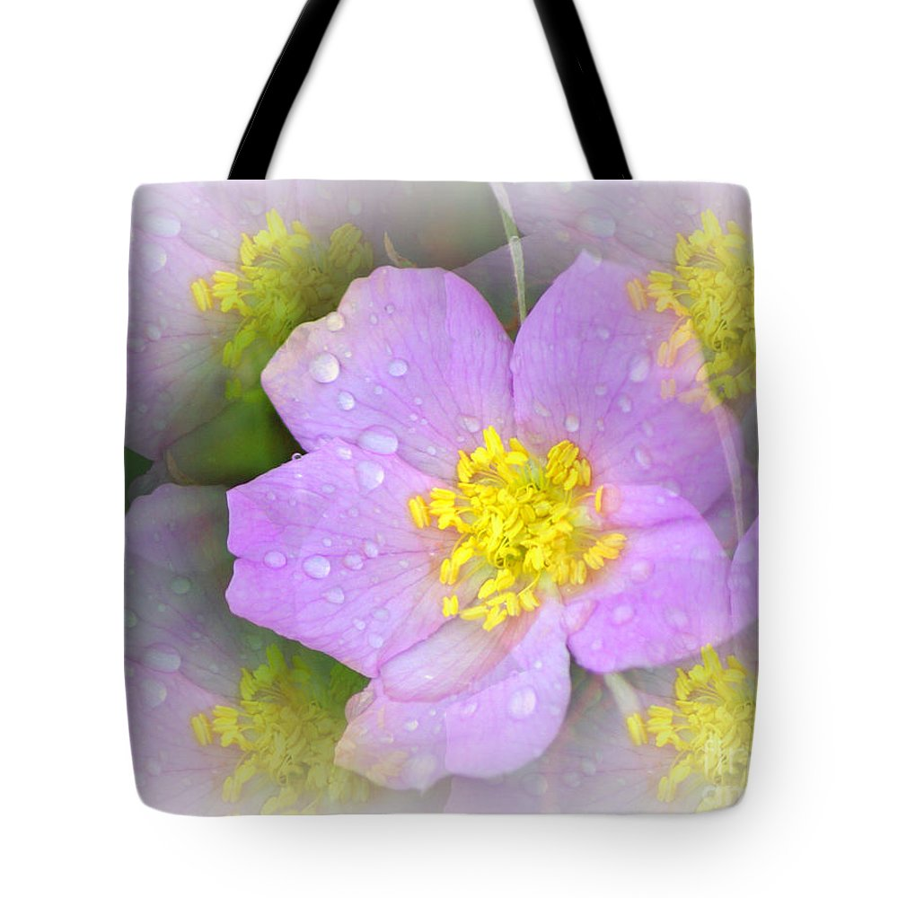 Flowers Tote Bag featuring the photograph Purple Prism by Marty Koch