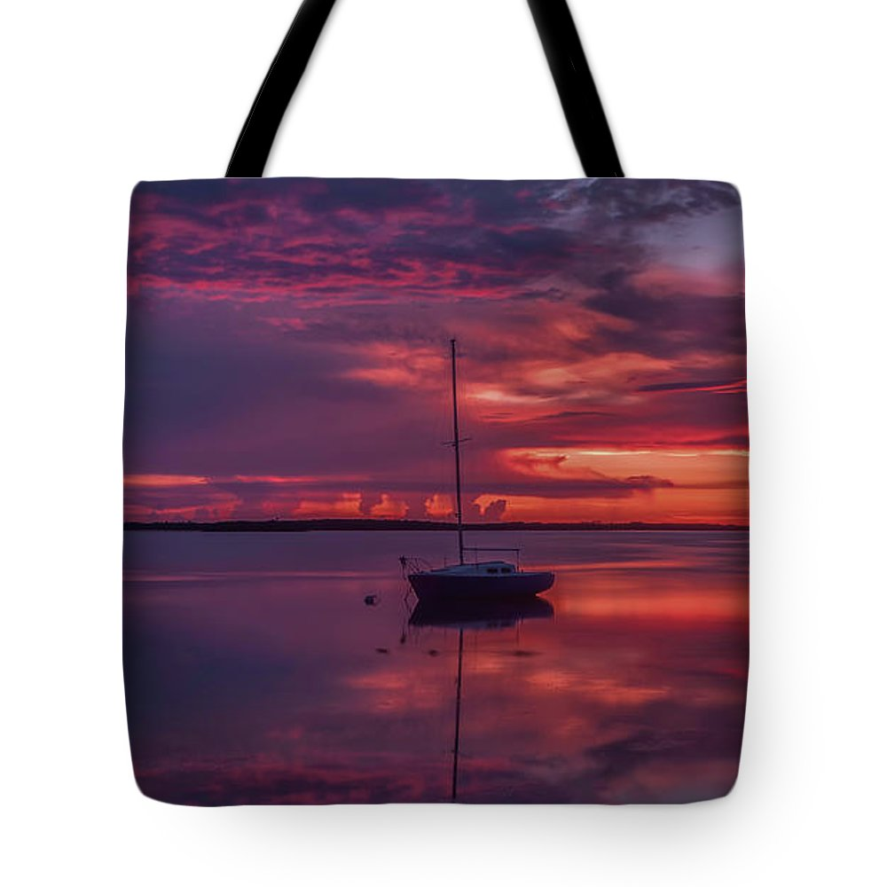 Dunedin Marina Tote Bag featuring the photograph Purple Rain by Todd Rogers