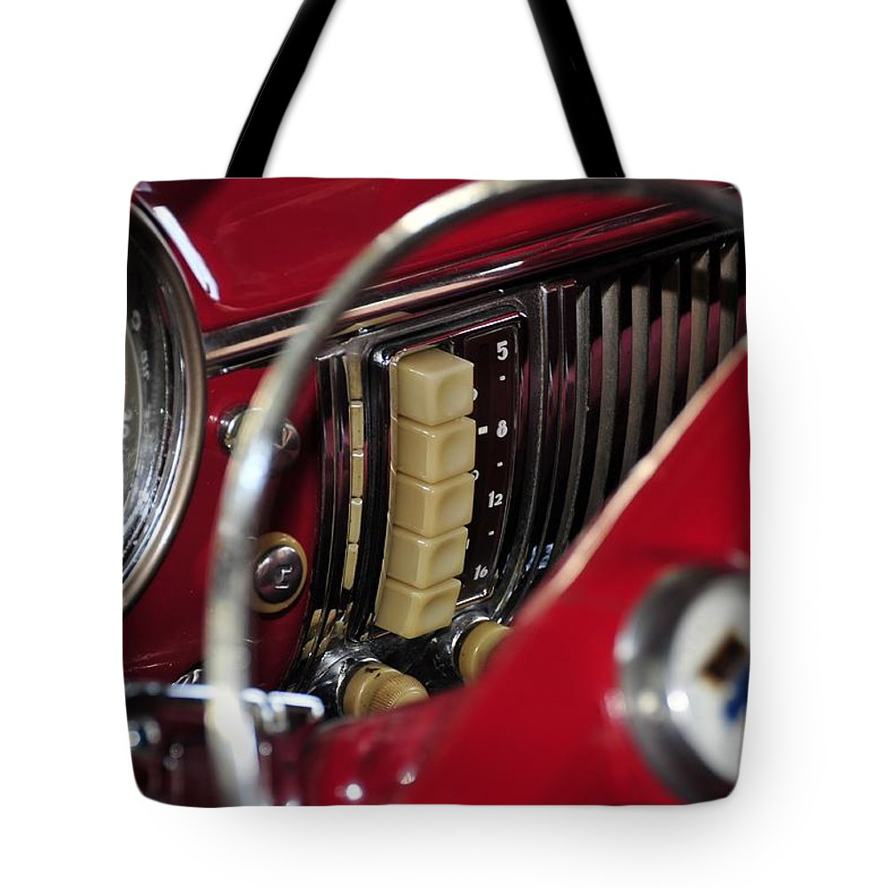 Antic Car Tote Bag featuring the photograph Push Buttons by David Lee Thompson