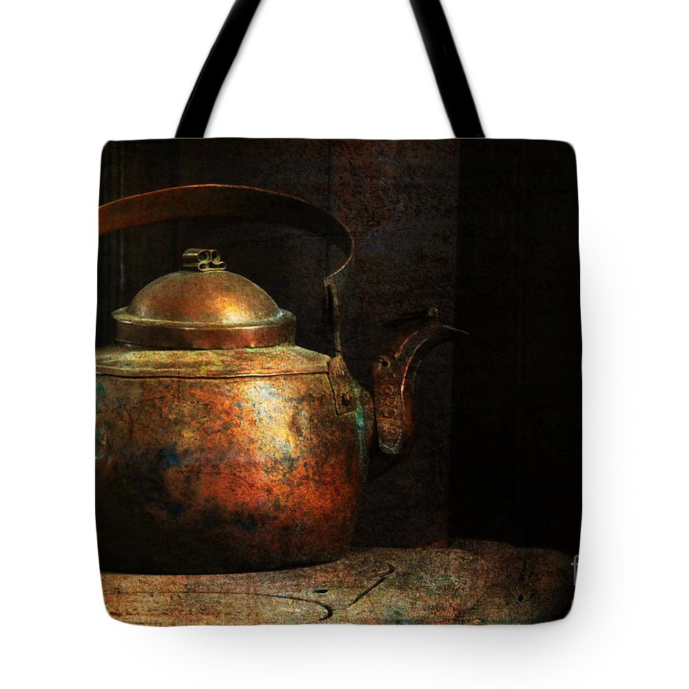 Kettle Tote Bag featuring the photograph Put The Kettle On by Lois Bryan