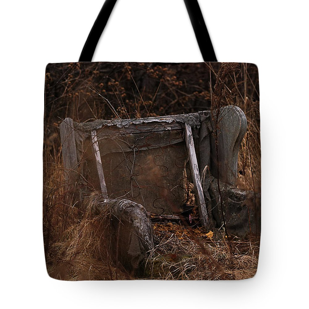 Chair Tote Bag featuring the photograph Putting Down Roots by Susan Capuano