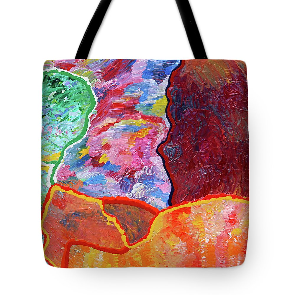 Fusionart Tote Bag featuring the painting Puzzle by Ralph White