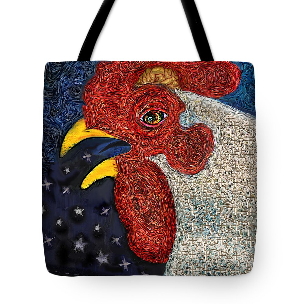 Jig-saw Puzzle Tote Bag featuring the painting Puzzled by Robert Pratt