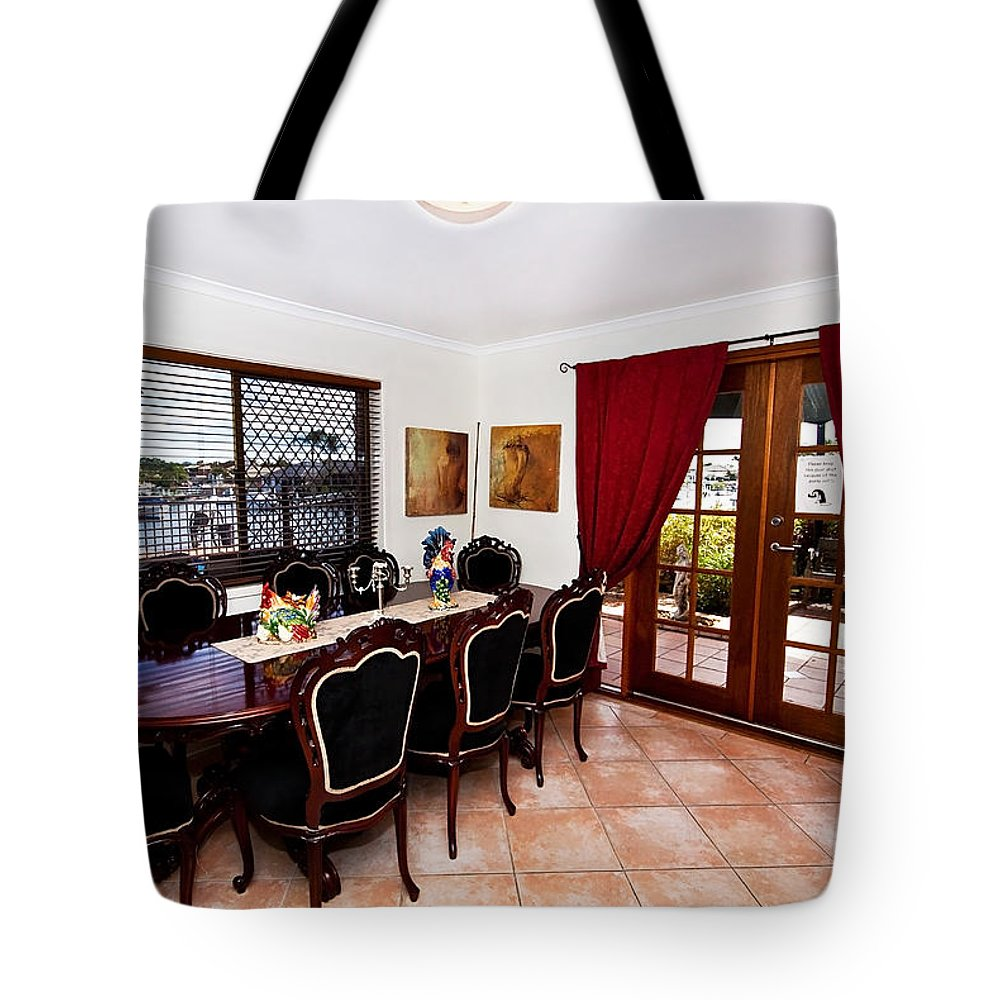Quaint Tote Bag featuring the photograph Quaint Dining Setting by Darren Burton