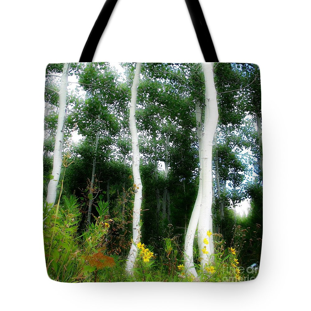 Aspens Tote Bag featuring the photograph Quaking by Idaho Scenic Images Linda Lantzy