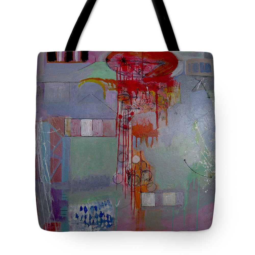 Abstract Tote Bag featuring the painting Quanta Continua by James Gallagher