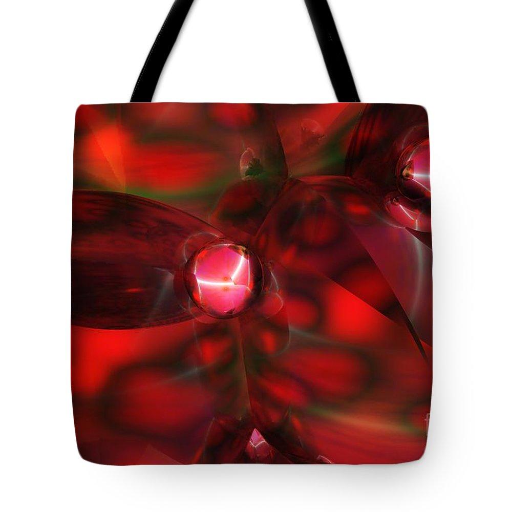 Tote Bag featuring the digital art Quantum by David Lane