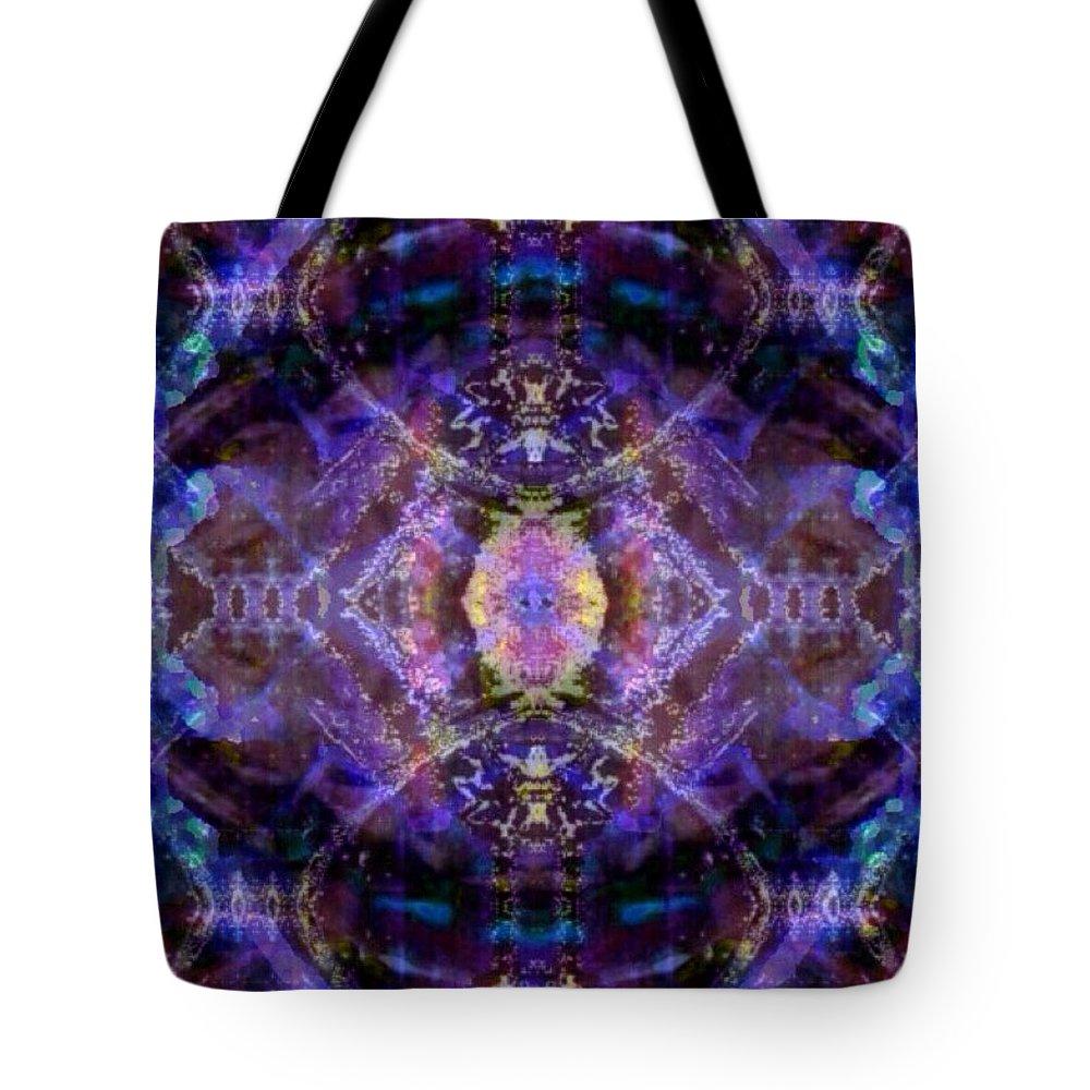 Digital Tote Bag featuring the digital art Quantum Orb by Roy Hummel